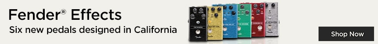 New Fender effects. Six new pedals from the legendary brand.