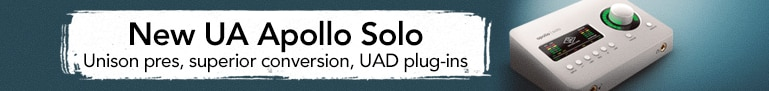 New Universal Audio Apollo Solo - Get Album-Quality Recordings with Superior Conversion, Unison pres and U.A.D. Plug-Ins