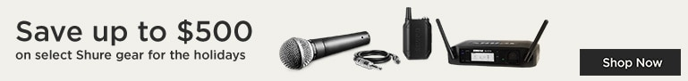 Save up to $500 on select Shure gear for the holidays