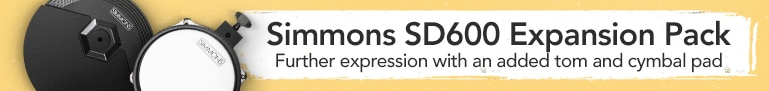 Simmons S.D. Six Hundred Expansion Pack - Further expression with an added tom and cymbal pad