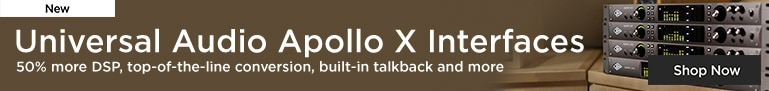 New Universal Audio Apollo X Audio Interfaces 50% more DSP, top-of-the-line conversion, built-in talkback and more Shop Now