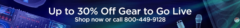 Up to 30% Off Gear to Go Live Shop Now or Call 800-449-9128