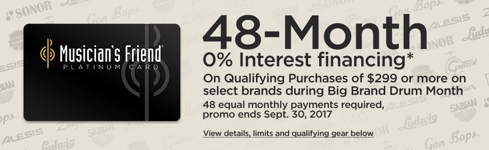 48 month 0% interest financing on qualifying purchases of $299 or more