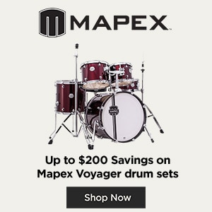 mapex, up to $200 savings on Mapex Voyager drum sets