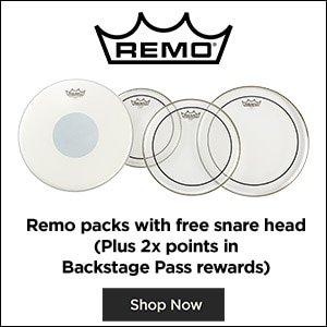 Remo packs with free snare head