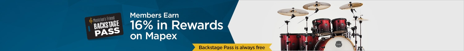 Backstage Pass members earn 16% in rewards on mapex