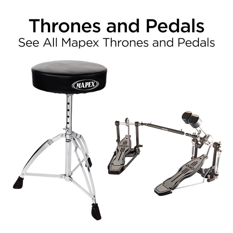 thrones and pedals see all mapex thrones and pedals