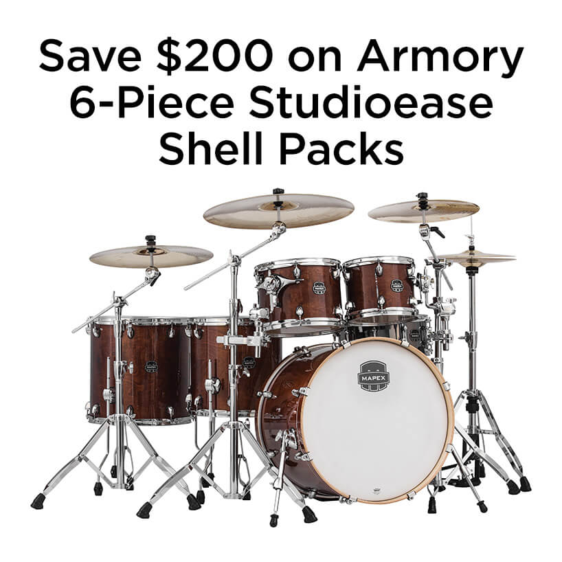 Save two hundred dollars on Armory 6 piece studio ease shell packs