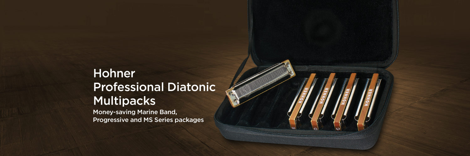 Hohner Professional Diatonic Multipacks. Money-saving Marin Band, Progressive and MS Series packages.