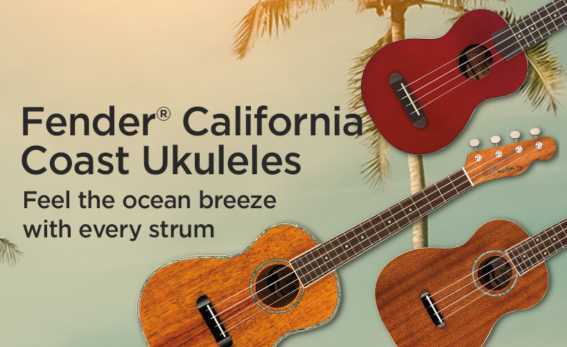 Fender California Coast Ukuleles