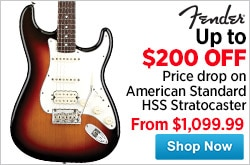 MF MD DR 200 Price Drop on Fender American Standard HSS Stratocaster 04-24-15
