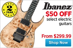 MF MD DR 50 Off Select Ibanez Electric Guitars 12-28-14