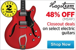 MF MD DR Closeout deals on Select Hagstrom Electric Guitars 06-26-15