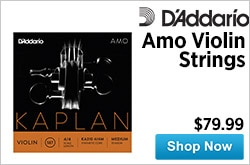 MF MD DR DAddario Amo Violin Strings 05-29-15