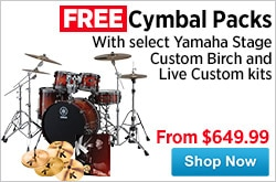 MF MD DR Free Cymbal Packs wYamaha Drum Kits 04-24-15