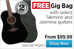 MF MD DR Free Gig Bag with Select TakmineJasmine Guitars 08-22-14