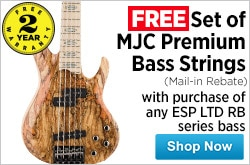 MF MD DR Free set of Strings w ESP Rocco Basses 10-10-14
