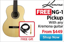 MF MD DR FreeKremona NG1 Pickup with any Kremona guitar 04-24-15