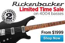 MF MD DR Limited Time Sale on Rickenbacker 4004 Basses 08-08-14