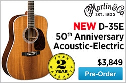 MF MD DR Martin D35E 50th Anniversary AcousticElectric Guitar 05-29-15