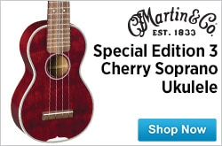 MF MD DR Martin Special Edition 3 Cherry Soprano Ukulele 10-03-14