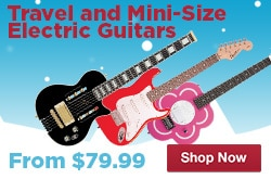 MF MD DR MiniTravel Size Electric Guitars 12-12-14