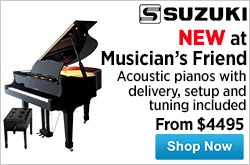MF MD DR Musicians Friend Welcomes Suzuki Acoustic Pianos 07-23-15