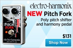 MF MD DR NEW ElectroHarmonix Pitch Fork Poly Pitch ShifterHarmony Pedal 11-26-14