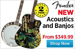 MF MD DR New Fender Acoustic GuitarsBanjos For 2015 02-13-15