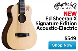 MF MD DR New Martin Ed SheeranX Signature Edition AcousticElectric Guitar 03-19-15