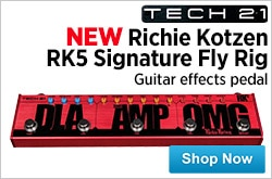 MF MD DR Tech 21 Richie Kotzen RK5 Signature Fly Rig Guitar Effects Pedal 03-27-15