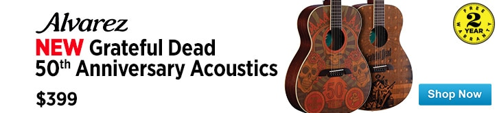 MF MD DT  Alvarez Grateful Dead 50th Anniversary Acoustic Guitars 04-24-15