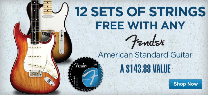 MF MD DT 12 Sets of Strings FREE with any American Standard Fender 04-30-13