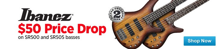 MF MD DT 50 Price Drops on Ibanez SR500SR505 Basses 08-08-14
