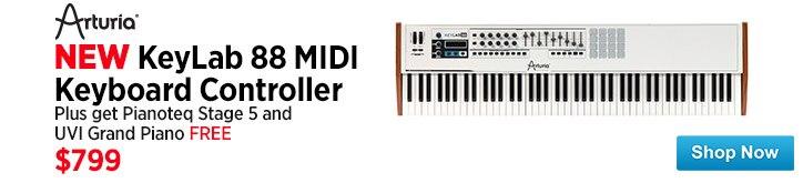 MF MD DT Arturia KeyLab 88 USB MIDI Keyboard Controller 09-19-14