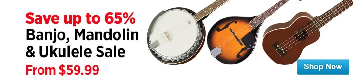MF MD DT Banjo mandolinUkulele Warehouse Sale Spotlight 12-19-14