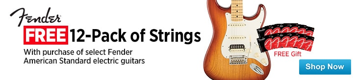MF MD DT Free 12 Sets of Strings with Purchase of Select Fender American Standard Electric Guitars  05-22-15