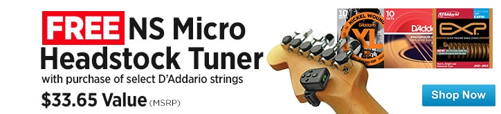 MF MD DT Free NS Micro Headstock Tuner with 07-25-14