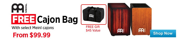 MF MD DT Meinl Cajons with Free Cajon Bag 05-31-15