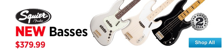 MF MD DT New Squier Basses 08-29-14