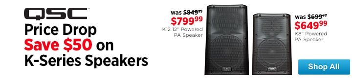 MF MD DT QSC KSeries Speaker Savings 09-05-14