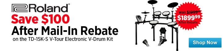 MF MD DT Save 100 onRoland TD15KS VTour Electronic VDrum Kit  08-22-14