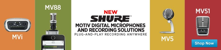 MF MD DT Shure Motiv Launch 8-3-15