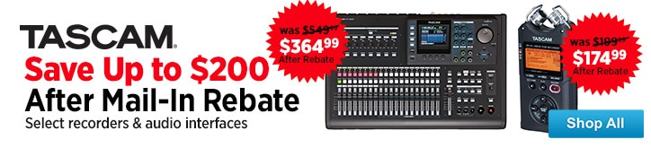 MF MD DT Tascam Rebates 08-15-14