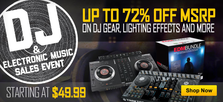 MF MD DT Up to 72% off MSRP on DJ gear, lighting effects and more 05-01-13