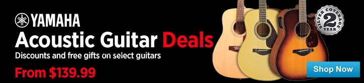 MF MD DT Yamaha End of Summer Acoustic Guitar Deals 07-25-14