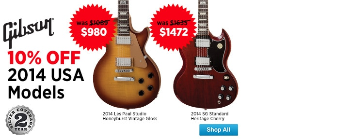 10 Off 2014 Gibson USA Models