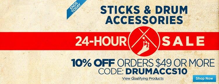 24Hour Drum SticksAccessories Sale