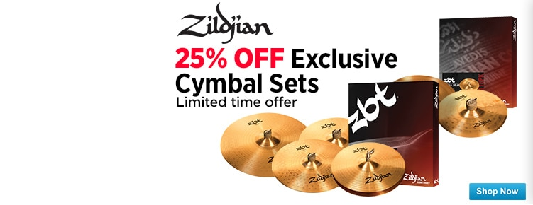25 off Zildjian Exclusive Sets