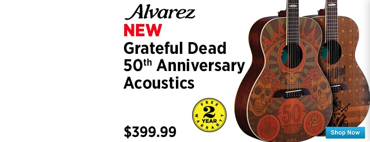 Alvarez Grateful Dead 50th Anniversary Acoustic Guitars